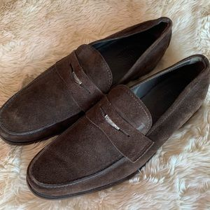 Tod's Men's Brown Suede Loafers (US SIZE 9)